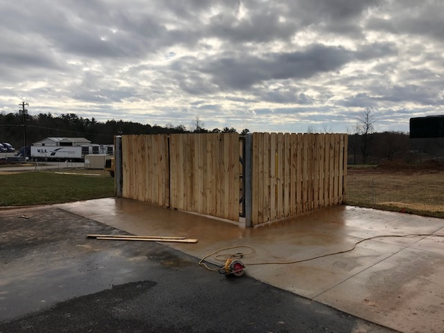 Finished dumpster and gates